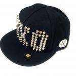 หมวกEXO XOXO(สีดำปักหมุด)