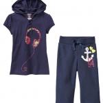 PJA054 เสื้อผ้าเด็ก ชุดลำลอง ลายหูฟัง&สมอเรือ มีฮู้ด แนวสปอร์ต baby Gap Made in Malasia งานส่งออก USA เหลือ Size 95