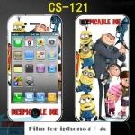 film iphone 4/4s ฟิล์มกันรอยไอโฟน4/4s ฟิล์มกันรอยหน้าหลัง ลายการ์ตูนน่ารักมากๆ เลือกได้ไม่ซ้ำใคร ราคาถูก