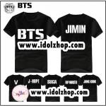 เสื้อยืด Bangtan Boys BTS สีดำ JIMIN