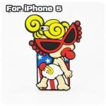case iphone 5 เคสไอโฟน5 HYSTERIC MINI เด็กทารกน้อยใส่แว่นตาดำน่ารักๆ กวนๆ