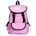 กระเป๋าสะพายหลัง GOT7 LOGO สีชมพู