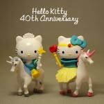 ตุ๊กตาโมเดลคิตตี้ยูนิคอร์น Hello kitty & Dare Deniel (40 Anniversary ) #Unicorn Couples 7-11 Hong Kong