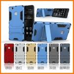 เคส Huawei P9 Lite เคสกันกระแทกแยกประกอบ 2 ชิ้น ด้านในเป็นซิลิโคนสีดำ ด้านนอกพลาสติกเคลือบเงาโลหะเมทัลลิค มีขาตั้งสามารถตั้งได้ สวยมากๆ เท่สุดๆ ราคาถูก