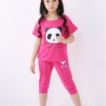 เสื้อ+กางเกง สีโรส แพ็ค 5 ชุด ไซส์ 100-110-120-130-140