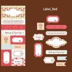 Fabric Sticker Ver.2 Cotton (Label-Red)