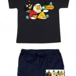 ANG147 Angry Birds เสื้อผ้าเด็ก ชุดนอน-ชุดลำลอง แขนสั้นขาสั้น เนื้อนิ่มใส่สบาย เหลือ Size 2Y