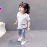 ชุดเซตลายเด็กสีขาว [size 6m-1y-2y-3y]