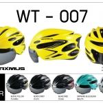 หมวกจักรยาน MAXMUS ,WT-007 SUNGLASSES AERO ,IN-MOLD ( 3 เลนส์)