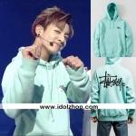 เสื้อฮูดแขนยาว เสื้อแฟชั่นเกาหลี BTS Jungkook Jiu สีเขียว