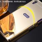 เคส Sony Xperia Z1 ขอบเคสโลหะ Bumper + พร้อมแผ่นฝาหลังเงางามสวยจับตา ราคาถูก