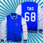 เสื้อเบสบอลEXO TAO 68 (สีน้ำเงินขาว)