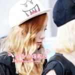 หมวกสีขาวหน้ายิ้ม แบบ Taeyeon