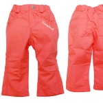 KGP232L Kidsplanet กางเกงขายาวเด็กหญิง สีโอลโรส จับจีบตรงเข่า กระเป๋าหน้าสกรีนโลโก้ กระเป๋าหลัง ปักแปะรูปหัวใจ One And Only เหลือ Size 3Y/4Y