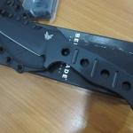 Benchmade 375 Adamas, Black Plain Edge, Black Sheath, BM375BK