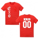 เสื้อ EXO KRIS00 สีแดง