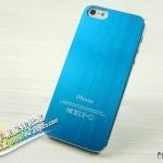case iphone 5 เคสไอโฟน5 แผ่นแปะหลังเคสทำจากโลหะเงาๆลายเส้นโลหะสวยมากๆ มีหลายสีให้เลือก