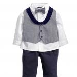 เสื้อตัวใน+เสื้อตัวนอก+กางเกง แพ็ค 5 ชุด ไซส์ 80-90-100-110-120