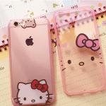 เคส iPhone 6s / iPhone 6 (4.7 นิ้ว) ซิลิโคน TPU สีชมพูโปร่งใสลายน่ารักแสนหวาน ราคาถูก