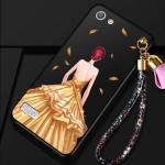 เคส OPPO Mirror 5 Lite / Mirror 5 Lite 4G พลาสติกลายผู้หญิงแสนสวย พร้อมที่คล้องมือ สวยมากๆ ราคาถูก