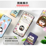 เคส iPhone 6 / 6s (4.7 นิ้ว) พลาสติกสกรีนลายการ์ตูนน่ารักๆ พร้อมสายคล้องเข้าชุด ราคาถูก