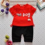 ชุดเซต Dog สีแดง [size 6m-1y-2y-3y]