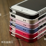 case iphone 5 เคสไอโฟน5 ขอบเคส bumper โลหะบางสุดๆเพียง 0.7 mm. สวยๆ เงาๆ แยกประกอบ 2 ชิ้น 0.7mm bumper ultra-thin metal frame mobile phone sets