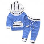 เสื้อ+กางเกง สีฟ้า 16517 แพ็ค 4 ชุด ไซส์ 70-80-90-100
