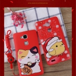 Case Huawei Ascend Mate 7 ซิลิโคน soft case นำโชค สีแดงสดใสต้อนรับปีไก่ เฮงๆ ราคาถูก (ไม่รวมสายคล้อง)