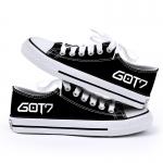 รองเท้าผ้าใบ GOT7 สีดำ