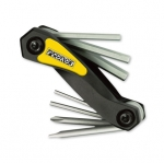 Pedro's FOLDING HEX WRENCH SET W/SCREWDRIVERS( 7 Functions)
