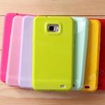 Case S2 Case Samsung Galaxy S2 i9100 เคสซิลิดคน TPU สีหวานๆ เงาๆ สวยๆ Candy TPU Silicone cell phone protective sleeve soft shell
