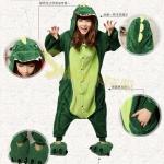 ชุดแฟนซีสัตว์ไดโนเสาร์+รองเท้าการ์ตูน