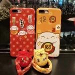 Case iPhone 6 Plus / 6s Plus (5.5 นิ้ว) พลาสติกลายการ์ตูนน่ารักมากๆ พร้อมที่ห้อย Lucky Cat เข้าชุด ราคาถูก