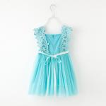 ชุดกระโปรง สีฟ้า แพ็ค 5ชุด ไซส์ 100-110-120-130-140