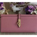 กระเป๋าสตางค์ผู้หญิงใบยาว หนังPU แต่งอะไหล่ล็อคสไตล์ Hermes