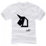 เสื้อยืดแฟชั่น EXO OVERDOSE LOGO 2014 Lay (ระบุสี)