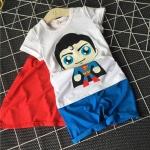 ชุดเซ็ตลาย superman พร้อมผ้าคลุม [size: 5Y]