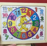 จิ๊กซอไม้20ช่องรูปนาฬิกาสอนตัวเลข