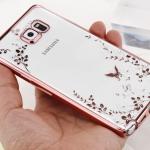Case Samsung Note 5 ซิลิโคน TPU โปร่งใสขอบเงาลายดอกไม้แสนหวาน ราคาถูก