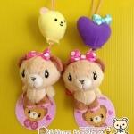หมีน้อยมิสแบร์ดรีม Sanrio | Miss Bear's Dream #หัวใจสีม่วง(ขวา)