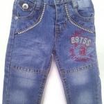 J11083 กางเกงยีนส์เด็กชาย ขายาว ดีไซส์ลายปักเท่ห์ ปรับเอวได้ Size 1-3 ขวบ