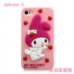 เคสไอโฟน5s / 5 เคสซิลิโคน 3D Mymelody สีชมพูน่ารักหลายลาย เคสมือถือราคาถูกขายปลีกขายส่ง