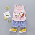 เสื้อ+กางเกง สีชมพู แพ็ค 4ชุด ไซส์ 6-8-10-12 (เหมาะสำหรับ 6ด.-4ปี)