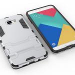 เคส Samsung A9 Pro เคสกันกระแทกแยกประกอบ 2 ชิ้น ด้านในเป็นซิลิโคนสีดำ ด้านนอกพลาสติกเคลือบเงาโลหะเมทัลลิค มีขาตั้งสามารถตั้งได้ สวยมากๆ เท่สุดๆ ราคาถูก