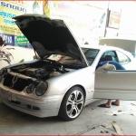 พรมปูพื้นรถเข้ารูป Benz CLK208 2ประตู