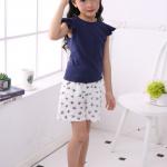 เสื้อ+กางเกง สีกรม แพ็ค 5 ชุด ไซส์ 110-120-130-140-150
