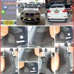 พรมดักฝุ่นไวนิลเข้ารูปปูพื้นในรถยนต์ BMW X6 สีดำขอบดำ