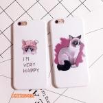 Case iPhone 6s, iPhone 6 (4.7 นิ้ว) พลาสติกลายแมวหน้ากวน ราคาถูก