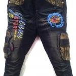 J8838 กางเกงยีนส์เด็กชาย ขายปลีกในราคาส่ง ดีไซเท่ห์ทั้งด้านหน้า-หลัง เอวยางยืด เหลือ Size 4-5 ขวบ